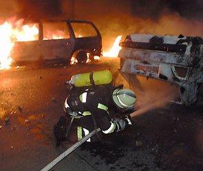 В Москве за ночь сожгли три автомобиля и Maserati