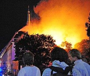 В Риге сгорел президентский дворец