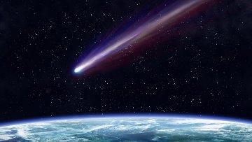 Огромный метеорит пролетел вблизи земли