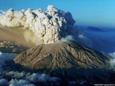 На Камчатке вулкан растопил ледник